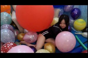 全身網タイツに風船を詰め込みまくる 風船コキが凄過ぎるフェチ動画
