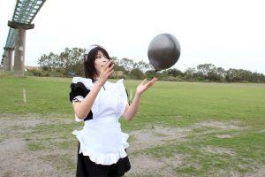 風船好きなメイド真咲ちゃんと風船フェチ男がかなりエロい風船プレイで感じまくる